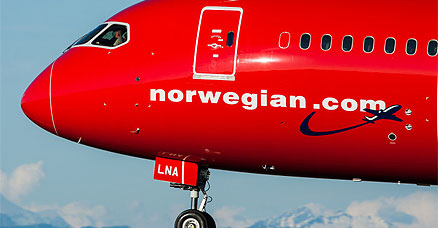 Norwegian direkte fly til new york