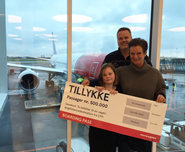 Norwegian passagerer 500000