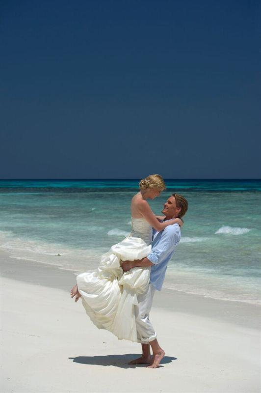 Thai bryllup på stranden