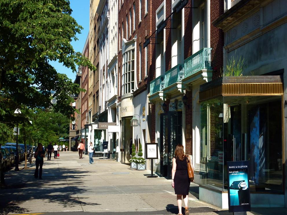 Newbury Street in August, credit Tim Grafft:MOTT