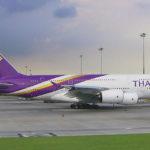 Thai Airways Airbus A380 i Bangkok Lufthavn Foto: Kenneth Karskov